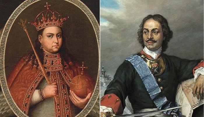 Царевна Софья Алексеевна и Петр I Алексеевич.