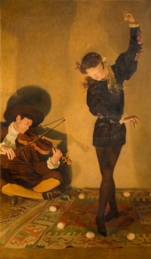 Джон Кольер «Танец с яйцами», 1903. <br>